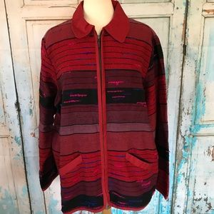 Coldwater Creek Jacket Hand Loomed Plus 2X